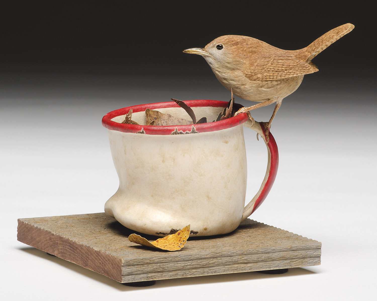 Pete Lupo - Wildlife Artist - House Wren & Cup