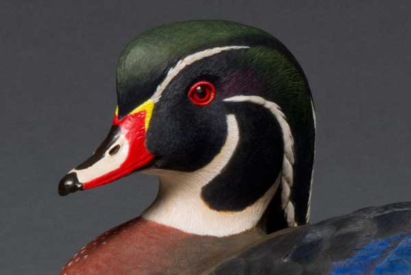 photo of Pete Lupo's Artwork - Wood Duck Drake Decoy